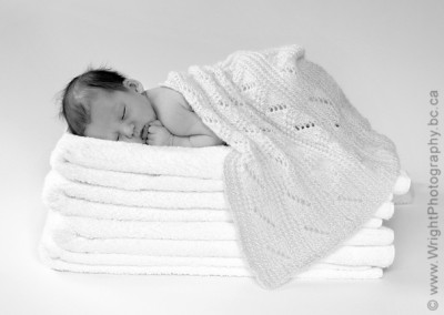 infant image of baby on towels